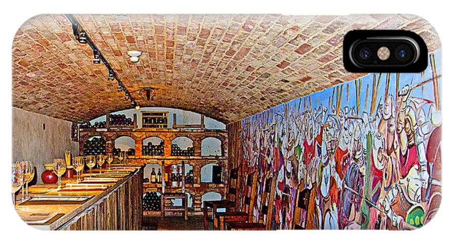 Wine Tasting Room In Castello Di Amorosa In Napa Valley IPhone X Case featuring the photograph Wine Tasting Room In Castello Di Amorosa In Napa Valley-ca by Ruth Hager