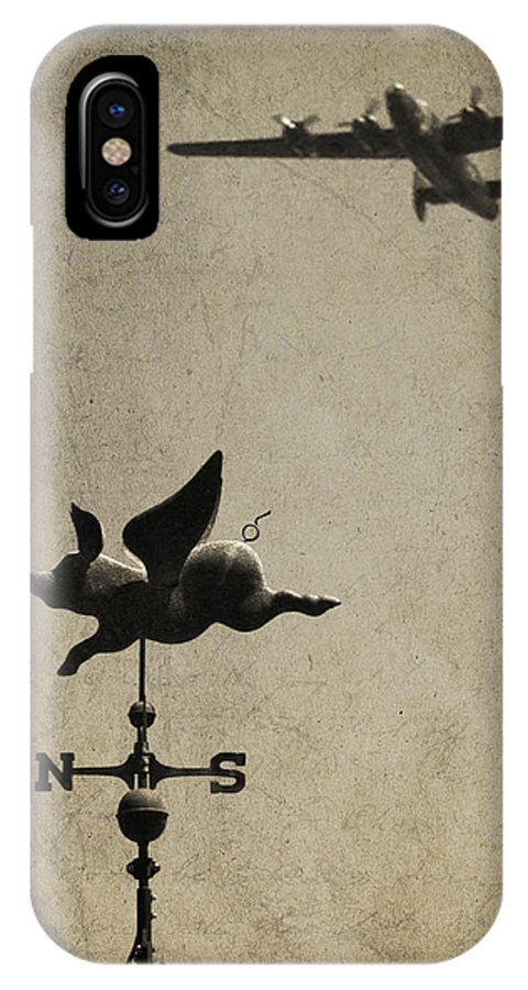 Plane IPhone X Case featuring the photograph Wings by Bill Jonas
