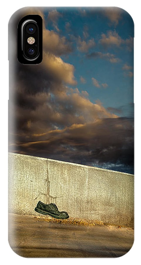 Shoe IPhone X Case featuring the photograph Wingtips by Bob Orsillo