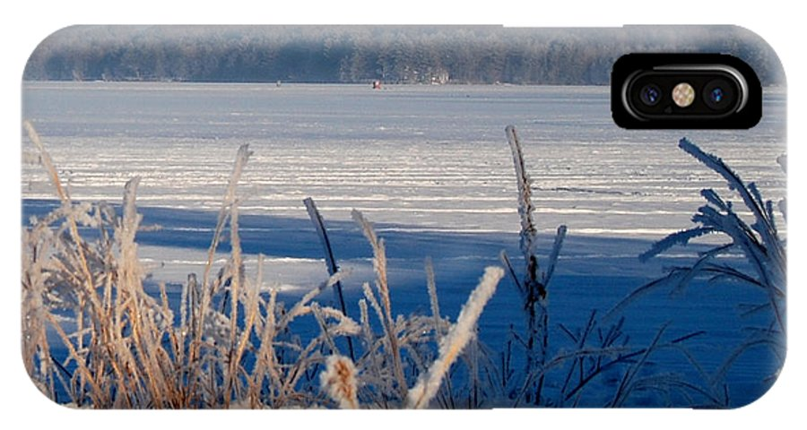 Fishing IPhone X Case featuring the photograph Winnisquam Winter by Mim White