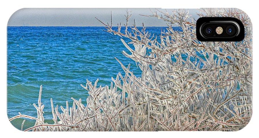 Beach IPhone X Case featuring the photograph Winter Beach by Michael Allen