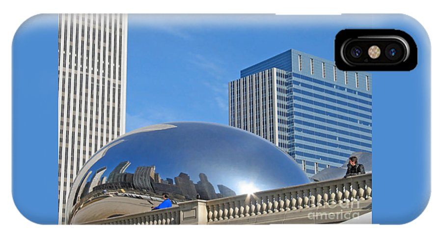 Chicago IPhone X Case featuring the photograph Winter Blue Reflected by Ann Horn