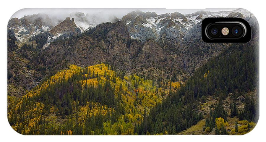 Winter IPhone X Case featuring the photograph Winter Comes Calling by Morris McClung
