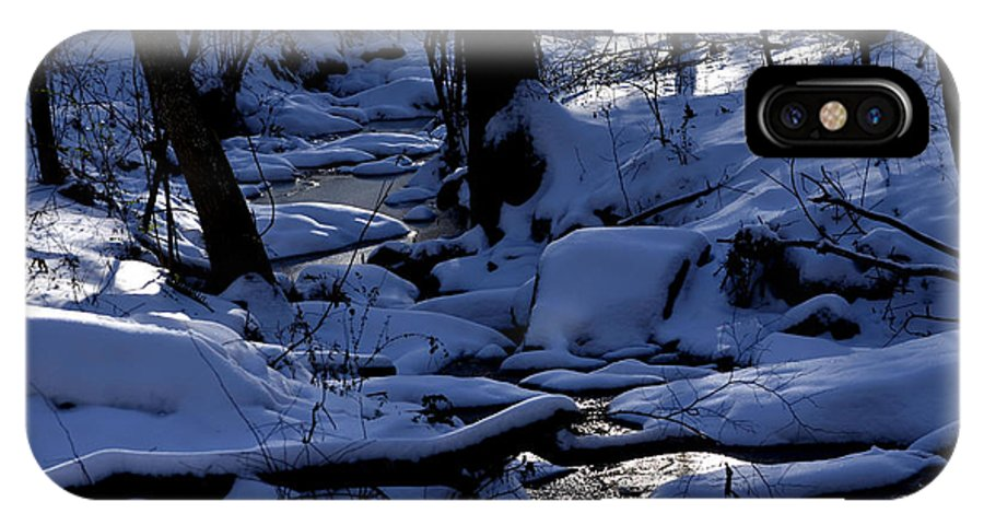 Landscape IPhone X Case featuring the photograph Winter Creek by Steven Livingston