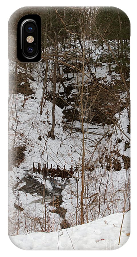 Winter IPhone X Case featuring the photograph Winter Creek by William Norton