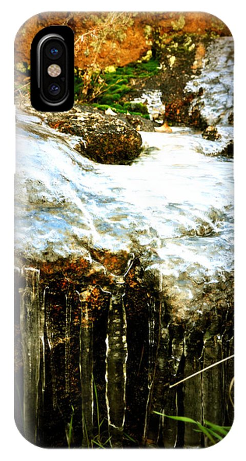 Water IPhone X Case featuring the photograph Winter Dells by Holly Storz