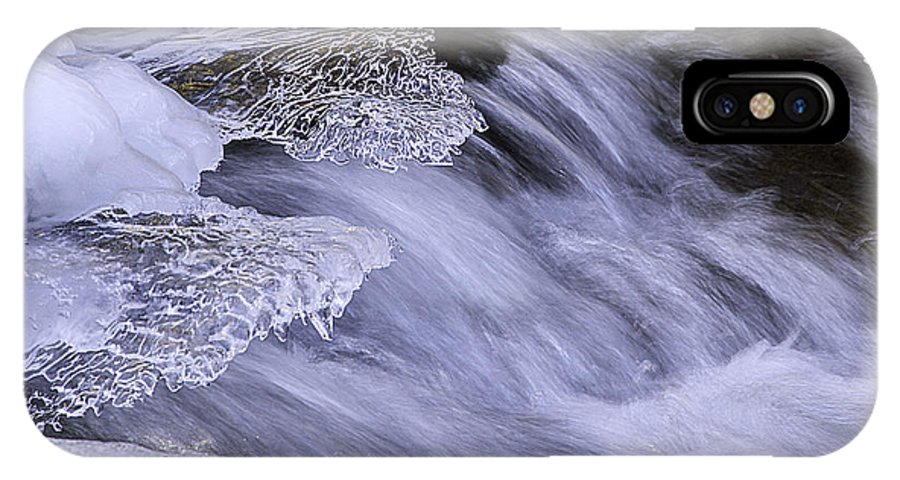 Winter IPhone X Case featuring the photograph Winter Lace by Yvonne Powell