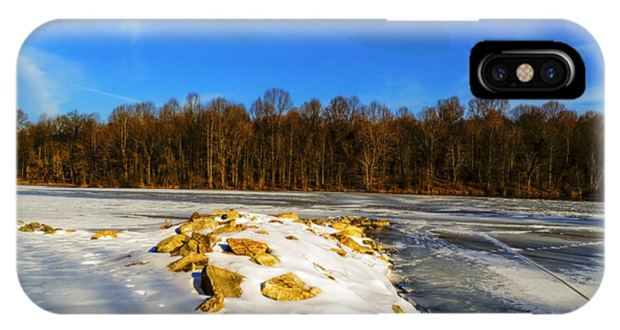Winter IPhone X / XS Case featuring the photograph Winter Landscape by AE Jones