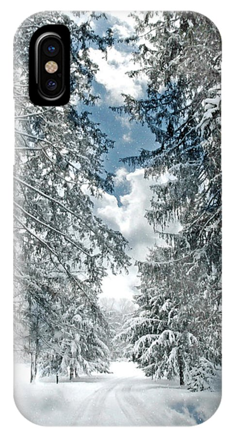 Landscape IPhone X Case featuring the photograph Winter Me by Diana Angstadt
