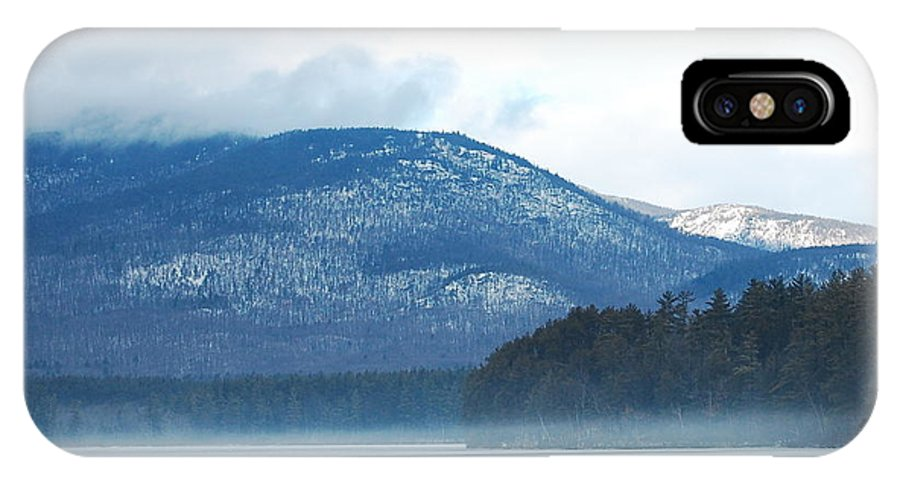 Cold IPhone X Case featuring the photograph Winter Mountain by Mim White