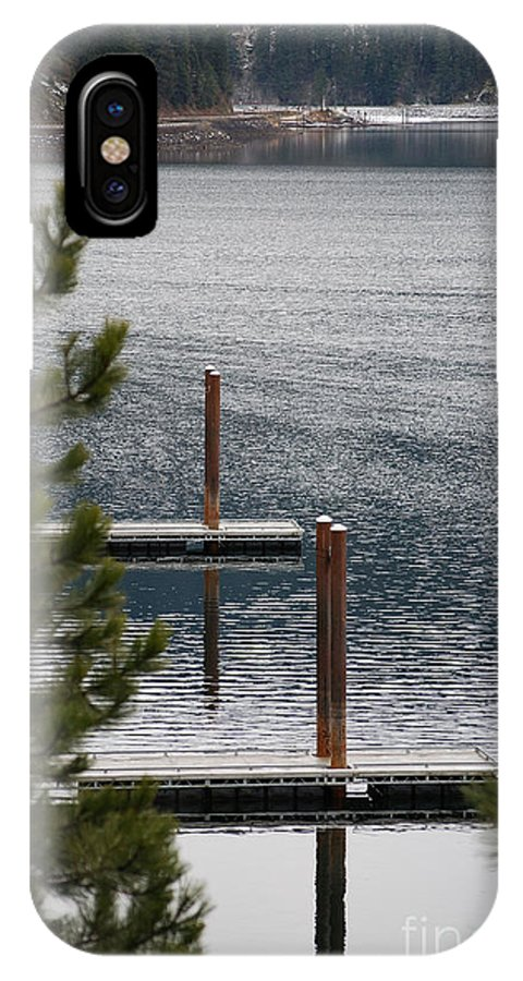 Coeur D' Alene IPhone X Case featuring the photograph Winter On Lake Coeur D' Alene by Sharon Elliott