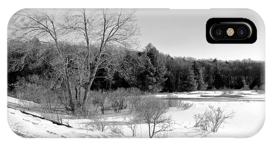 Adirondack's IPhone X Case featuring the photograph Winter On The Moose River by David Patterson