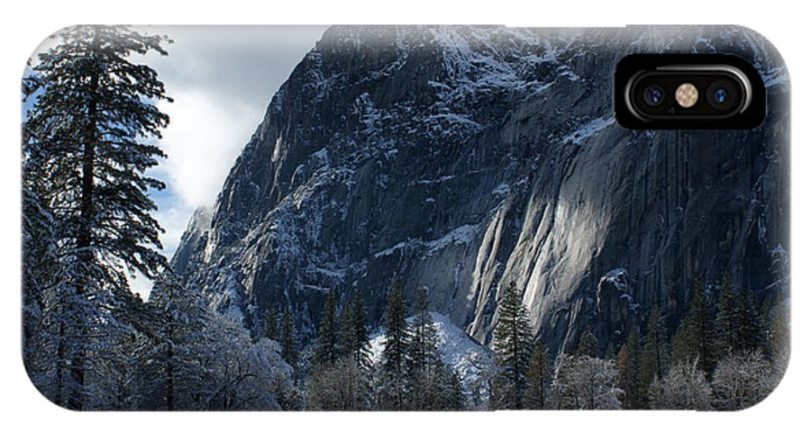 Yosemite IPhone X Case featuring the photograph Winter On The Valley Floor by Christine Jepsen