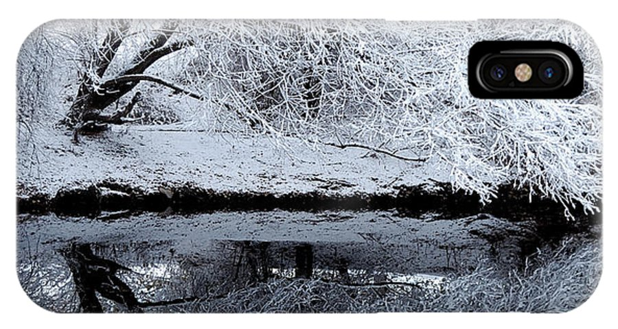Outdoors IPhone X Case featuring the photograph Winter Reflections by Steven Milner