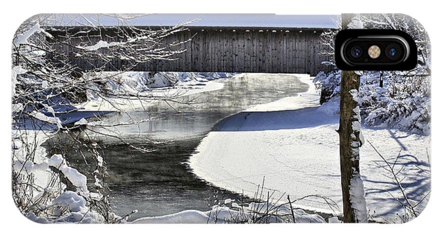 Brook IPhone X Case featuring the photograph Winter Scene In Montgomery by Deborah Benoit