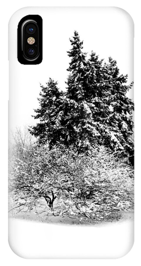 Winter IPhone X Case featuring the photograph Winter Scene by Richard Kitchen