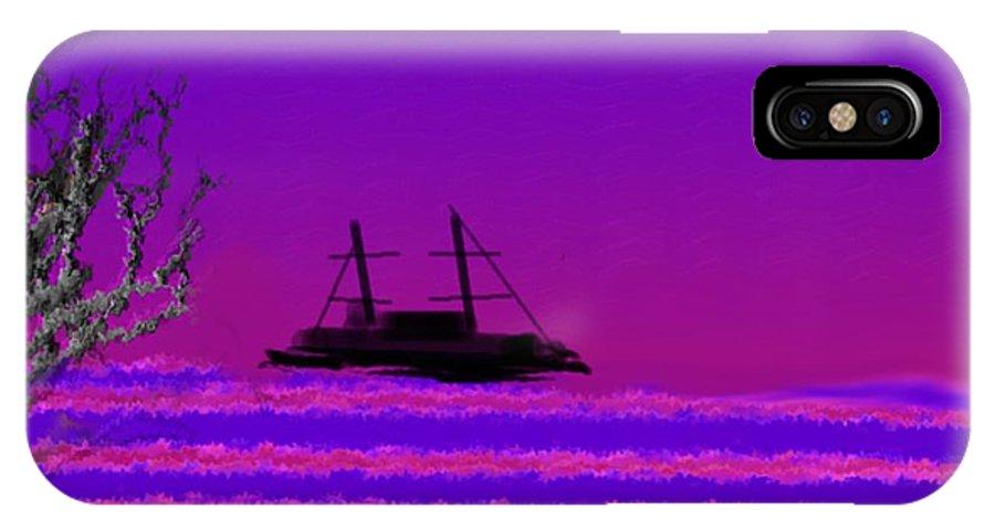 Landscape IPhone X Case featuring the digital art Winter sea evening by Dr Loifer Vladimir