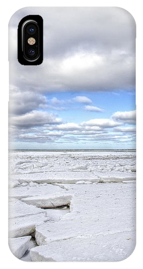 Hdr IPhone X Case featuring the photograph Winter Skaket Beach by Mikael Carstanjen