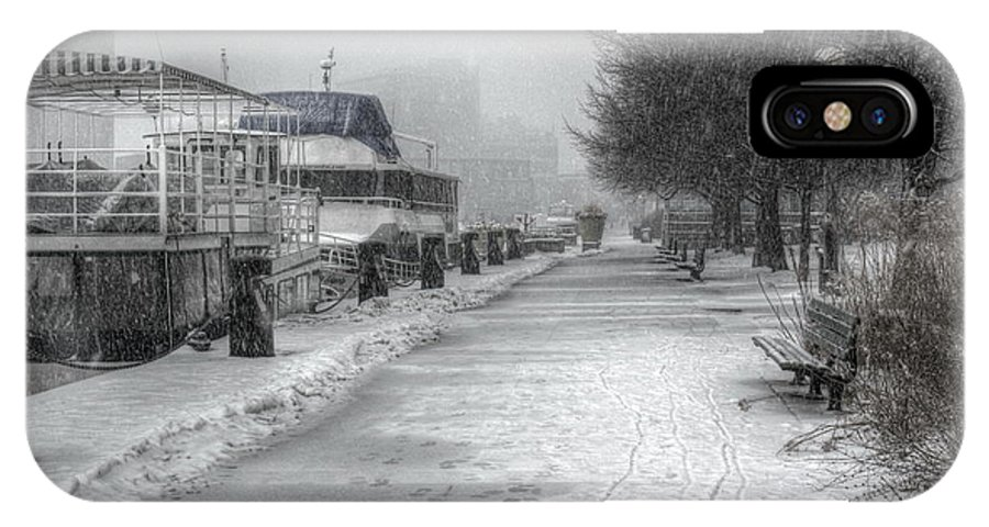 Alone IPhone X Case featuring the photograph Winter Snow Storm II by Nicky Jameson