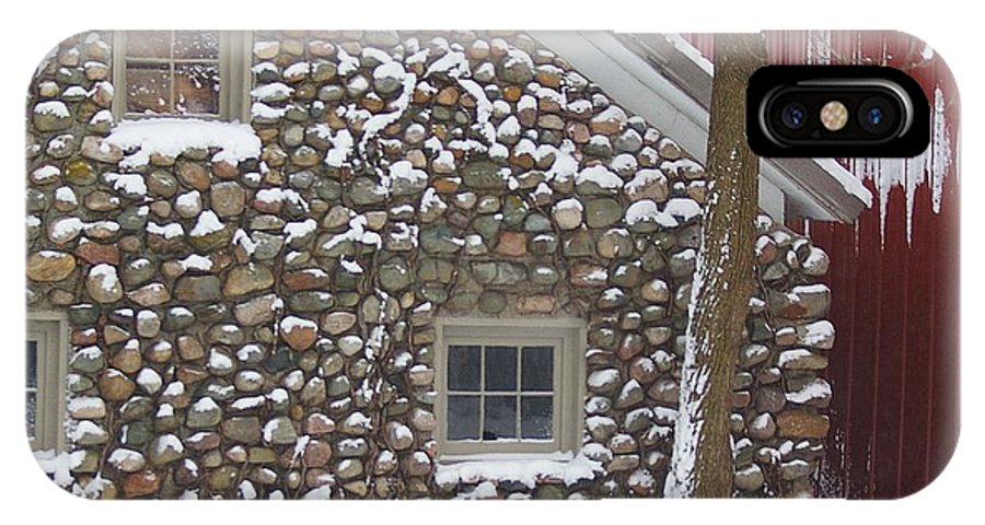 Winter IPhone X Case featuring the photograph Winter Stone Pattern by Randy Pollard