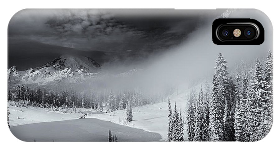 Winter IPhone X Case featuring the photograph Winter Storm Clears by Mike Dawson