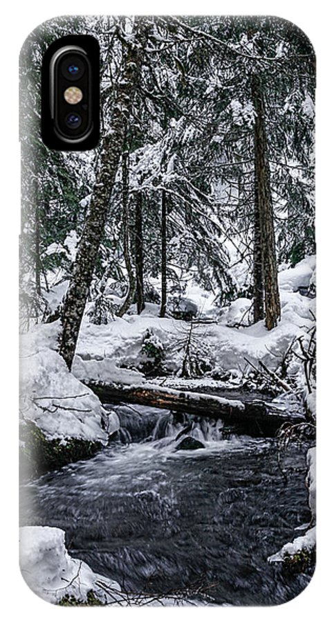 Stream IPhone X Case featuring the photograph Winter Stream by Tahnee-Wesley Grant