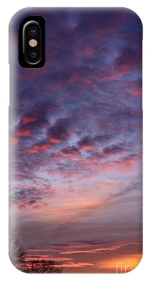 Sunrise IPhone X Case featuring the photograph Winter Sunrise by Thomas R Fletcher