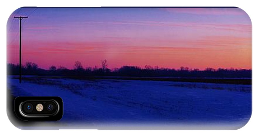 IPhone X Case featuring the photograph Winter Sunset by Daniel Thompson