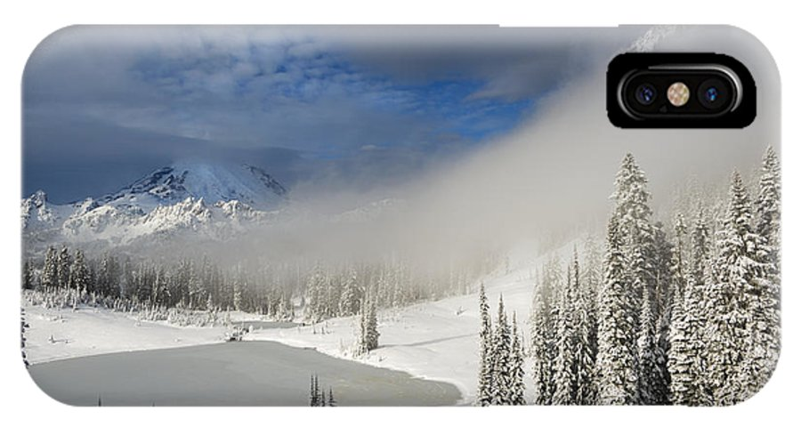Winter IPhone X Case featuring the photograph Winter Wonderland by Mike Dawson