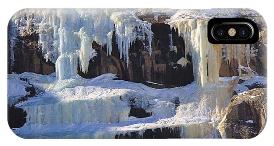Waterfall IPhone X Case featuring the photograph Winter Wonderland by Tonya Hance