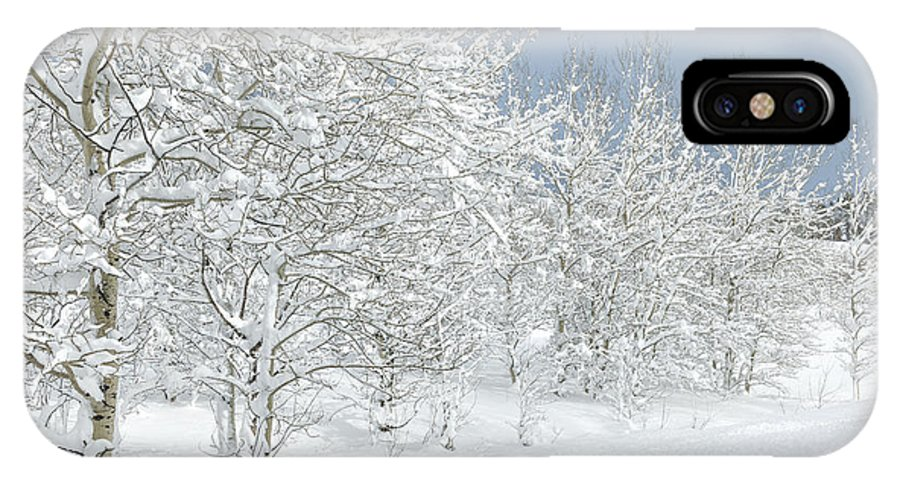 Winter IPhone X Case featuring the photograph Winter's Glory - Grand Tetons by Sandra Bronstein