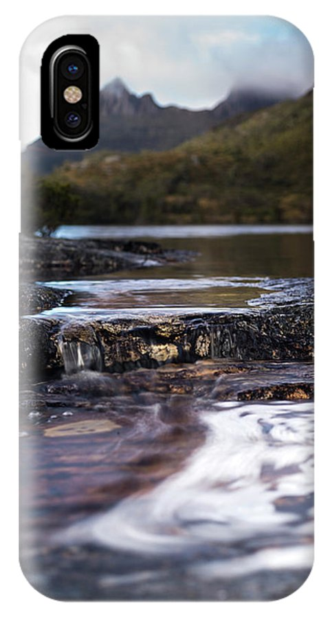 Non-urban Scene IPhone X Case featuring the photograph Wombat Pool Lake Spills Into A Small by Heath Holden