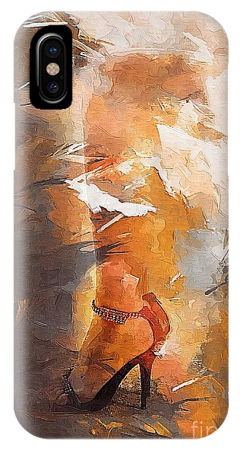 Woman IPhone X Case featuring the digital art Women 398-08-13 Marucii by Marek Lutek