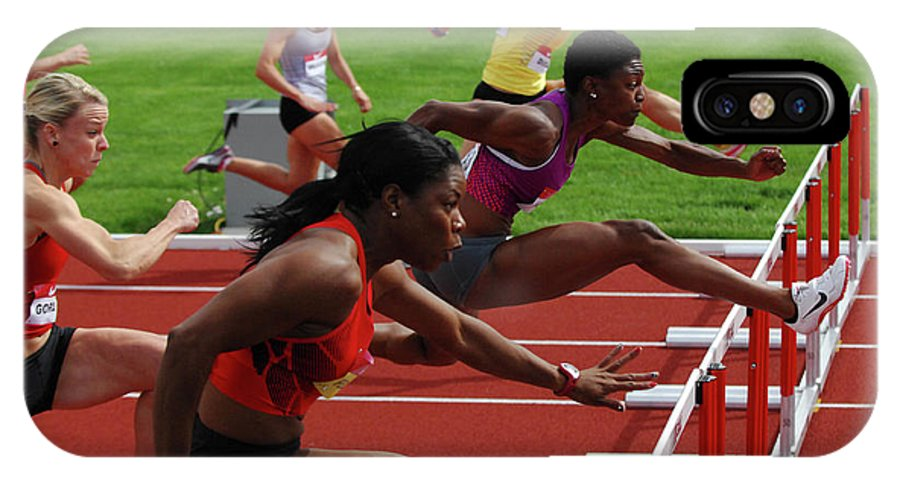 Canadian Track And Field National Championships IPhone X Case featuring the photograph Womens Hurdles 3 by Bob Christopher