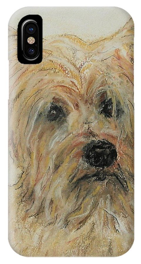 Terrier IPhone Case featuring the drawing Wonder-ful by Cori Solomon