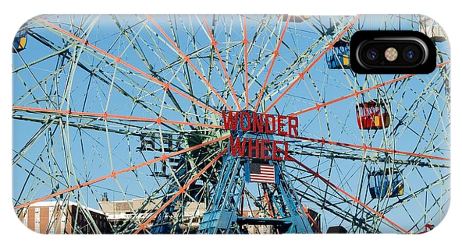 Brooklyn IPhone X Case featuring the photograph Wonder Wheel Of Coney Island by Rob Hans