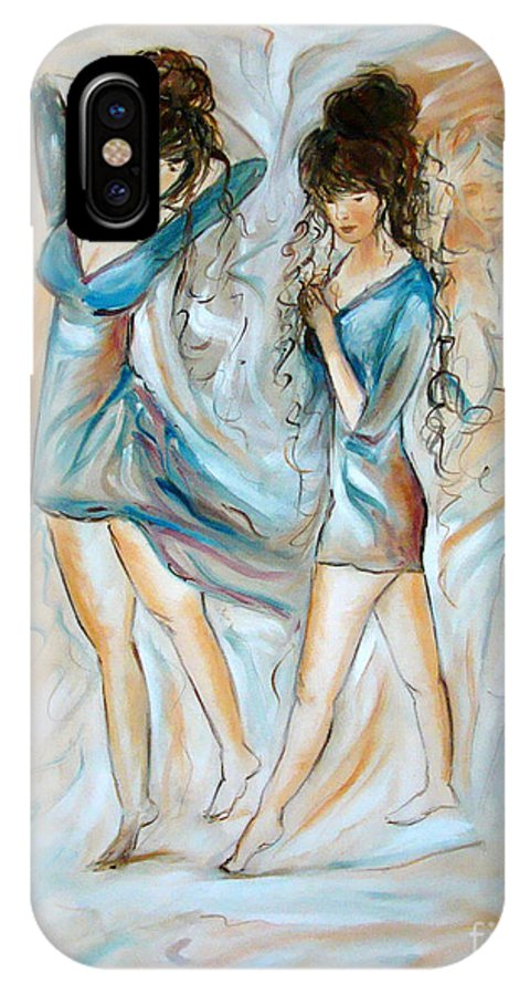 Contemporary Art IPhone Case featuring the painting Wondering by Silvana Abel