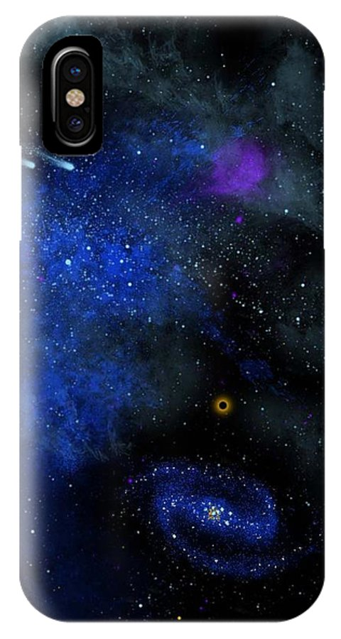 Wonders Of The Universe Mural IPhone X / XS Case featuring the painting Wonders Of The Universe Mural by Frank Wilson