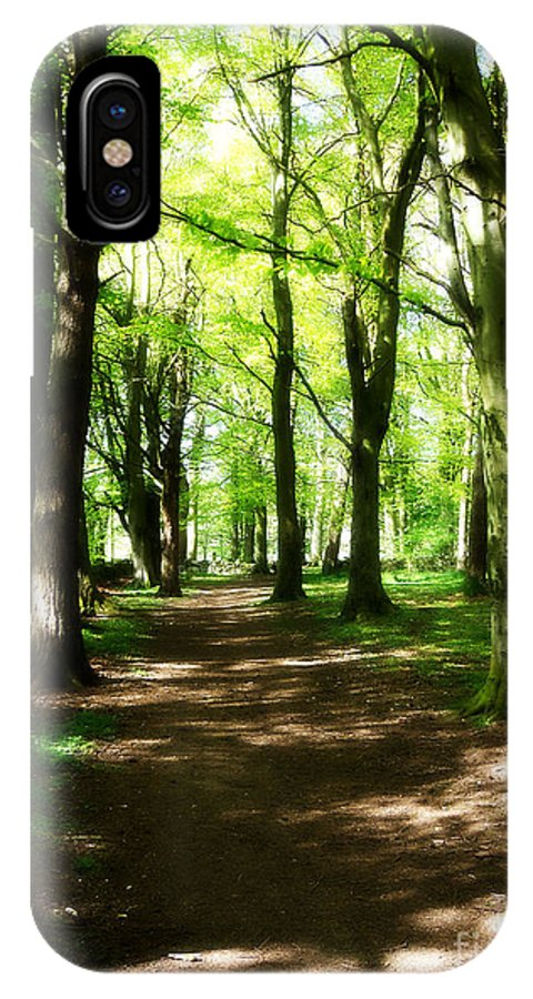 Landscape IPhone X Case featuring the photograph Wooded Path by Blair Lorimer