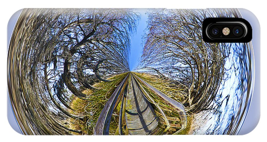Orb IPhone X Case featuring the photograph Wooden Bridge Orb by Bill Barber
