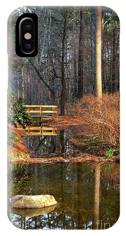 Woodland Bridge 2014 IPhone X Case featuring the photograph Woodland Bridge 2014 by Maria Urso