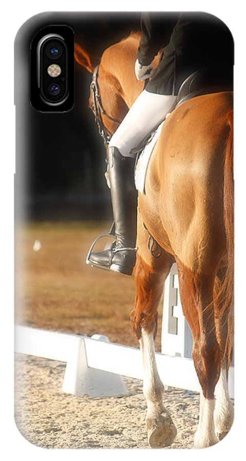 Equine IPhone X Case featuring the photograph Working Walk by M Davis