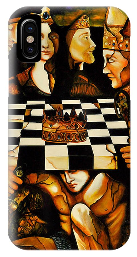 Astrology IPhone X Case featuring the painting World Chess  by Dalgis Edelson
