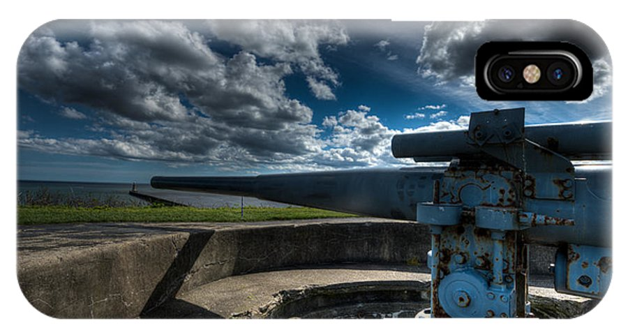 World IPhone X Case featuring the photograph World War II Gun Battery by GD Images