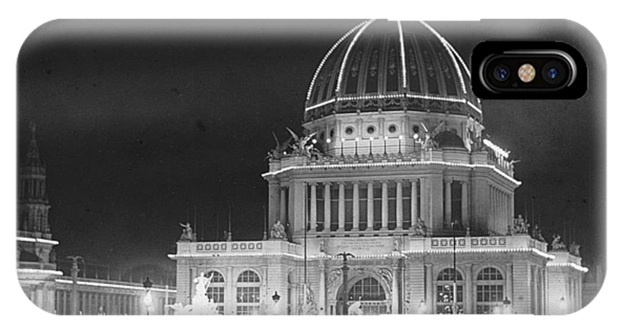 Columbian Exposition IPhone X Case featuring the photograph Worlds Columbian Exposition Administration Building Chicago 1893 by Historic Photos