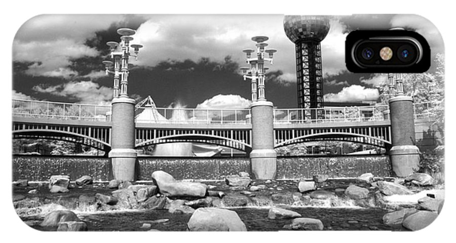 Infrared IPhone X Case featuring the photograph Worlds Fair Park In Knoxville - Infrared by Paul W Faust - Impressions of Light