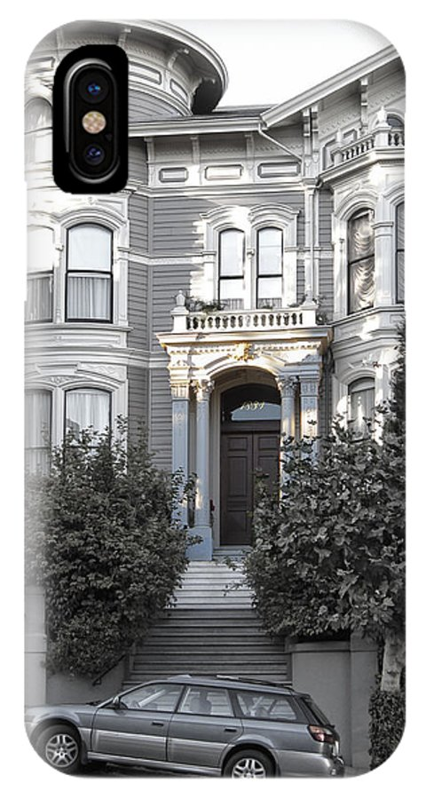 Mansion IPhone X Case featuring the photograph Wormser-coleman Victorian Mansion - San Francisco by Daniel Hagerman