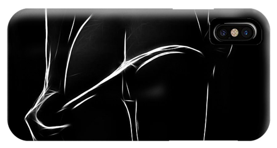 Female Girl Woman Ass Butt Sexy Erotic Minimalism Black White Desire Sensual IPhone X Case featuring the painting Wow by Steve K