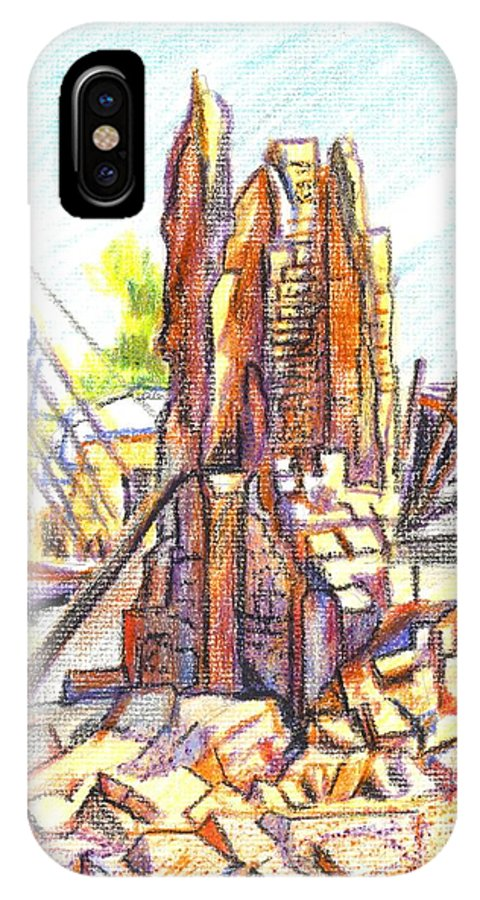 Wrecking Ball IPhone X Case featuring the painting Wrecking Ball by Kip DeVore