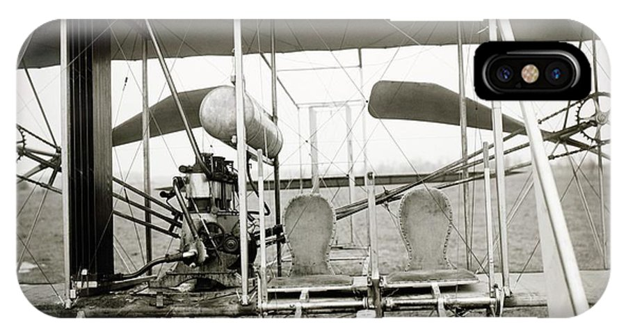 Wright Model A IPhone X Case featuring the photograph Wright Biplane Engine And Seats by Library Of Congress